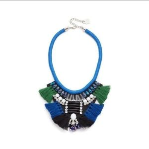 New Adia Kibur Kimberly statement necklace blue